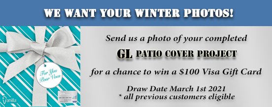 G.L. Aluminum Patio Covers encourages you to send us pictures of your patio or carport cover that you bought from us!